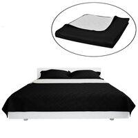 Tosidig vattert sengeteppe svart/hvit 220 x 240 cm