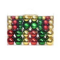 Julekuler 100 stk rød/gull/grønn