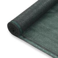 vidaXL Tennisskjerm HDPE 1,2x100 m grønn