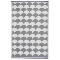 Esschert Design Uteteppe 180x121 cm grå og hvit OC24
