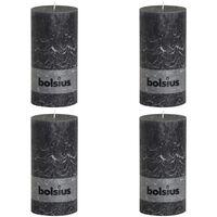 Bolsius Rustikke kubbelys 200 x 100 mm antrasitt 4 stk