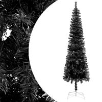 vidaXL Slankt juletre svart 240 cm