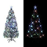 vidaXL Kunstig juletre med stativ/LED 150 cm fiberoptikk