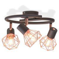vidaXL Taklampe med 3 LED-filamentpærer 12 W