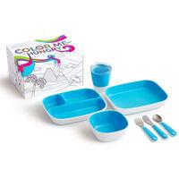 Munchkin Middagssett 7 deler Color Me Hungry blå
