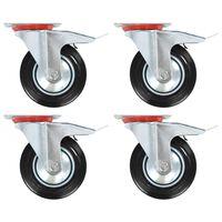 vidaXL Svinghjul med doble bremser 4 stk 160 mm