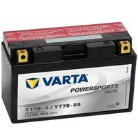 Varta AGM-batteri 12 V 7 Ah YT7B-4 / YT7B-BS