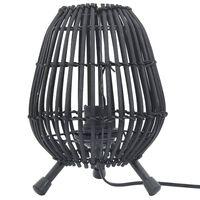 vidaXL Stående bordlampe svart 60 W 20x27 cm E 27