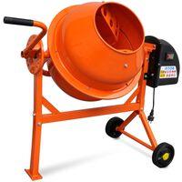 Elektrisk betongblander 63 L 220 W oransje stål