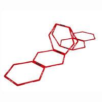 Pure2Improve Sekskantet smidighetstrener 6 stk rød