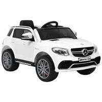 vidaXL Elektrisk barnebil Mercedes Benz GLE63S plast hvit