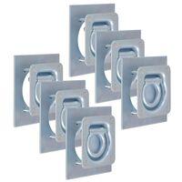 vidaXL Festeringer for tilhenger 6 stk galvanisert stål 2000 kg