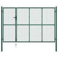 vidaXL Hageport stål 350x200 cm grønn