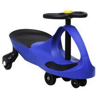 vidaXL Svingbil for barn med horn blå
