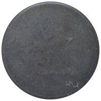 vidaXL Bordplate svart Ø70x2,5 cm marmor