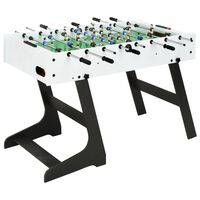 vidaXL Sammenleggbart fotballbord 121x61x80 cm hvit