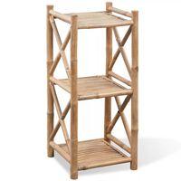 3-lags kvadratisk Hylle i bambus