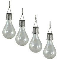 Luxform Soldrevet LED festlys 4 stk gjennomsiktig 95420