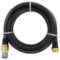 vidaXL Sugeslange med messingkontakter 25 m 25 mm svart