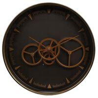 Gifts Amsterdam Veggklokke Radar Paul gull og brun 36 cm