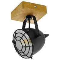 EGLO Spotlys Gatebeck 1 lampe stål og tre svart