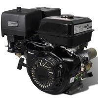 vidaXL Bensinmotor med elektrisk start 15 HK 11 kW svart