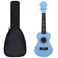 """vidaXL Sopran-ukulele sett med veske for barn babyblå 21"""""""
