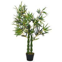 vidaXL Kunstig bambus-plante med potte grønn 110 cm