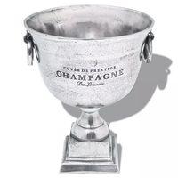 vidaXL Pokal Champagneavkjøler Aluminum Sølv