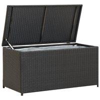 vidaXL Utendørs oppbevaringsboks polyrotting 100x50x50 cm svart