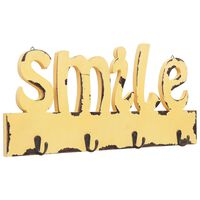 vidaXL Veggmontert garderobepanel SMILE 50x23 cm