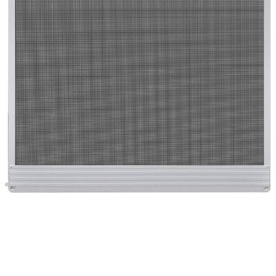 vidaXL Insektskjerm med hengsler for dør hvit 120 x 240 cm