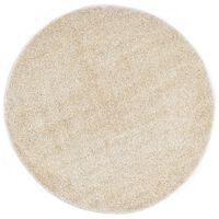 vidaXL Shaggy flossteppe 67 cm beige