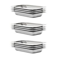 vidaXL Gastronormbeholdere 12 stk GN 1/3 40 mm rustfritt stål