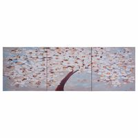 vidaXL Lerretsbilde blomstrende tre flerfarget 120x40 cm