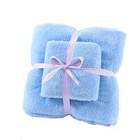 Sett med badehåndklær og håndkle - Blå