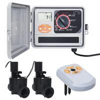 vidaXL Hagevanningsregulator med fuktsensor og magnetventil