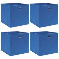 vidaXL Oppbevaringsbokser 4 stk blå 32x32x32 cm stoff