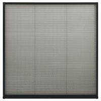 vidaXL Plissert insektskjerm for vindu aluminium antrasitt 120x120 cm