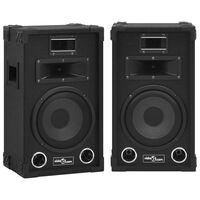 vidaXL Profesjonelle passive Hifi-høyttalere 2 stk 800 W svart