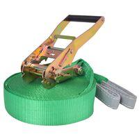 vidaXL Slakkline 15 mx 50 mm 150 kg grønn