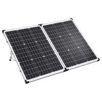 vidaXL Sammenleggbar solcellepanelkoffert 120 W 12 V