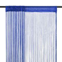 vidaXL Trådgardiner 2 stk 140x250 cm blå