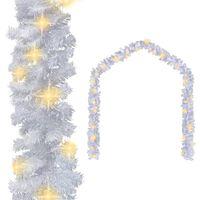 vidaXL Julegarland med LED-lys 10 m hvit
