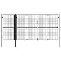 vidaXL Hageport stål 400x200 cm antrasitt