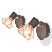 vidaXL Vegglamper 2 stk med 2 LED-filamentpærer 8 W