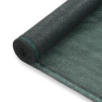 vidaXL Tennisskjerm HDPE 1,2x50 m grønn