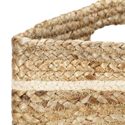 vidaXL Handleveske med striper naturlig håndlaget jute