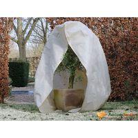 Nature Vintertrekk med glidelås fleece 70 g/m² beige 2x2,5 m