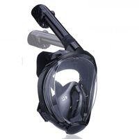 Full maske cyclop med snorkel og GoPro-feste - svart - S / M